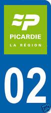 1 Sticker plaque AUTO adhésif département 02 logo vert