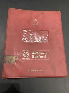 AVELING BARFORD MASTER PAVIOR GN1498 ONWARDS COMPACTOR PARTS BOOK ROLLER FORD