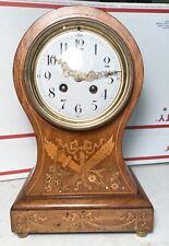 Antique Balloon Inlaid Mantel Clock England ?