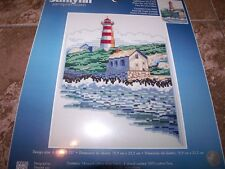 Janlynn LIGHTHOUSE ON THE HILL Counted Cross Stitch Kit