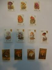 3 Sets of Fungi on Stamps from St Kitts Belize & Zambia UM