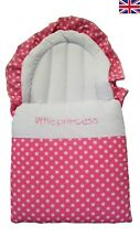 Baby Nest/Foot Muff - Cosy Toes Polka Dots (Pink & Black)
