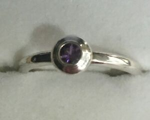 James Avery Amethyst Purple Remembrance Sterling Silver  Size 8.5