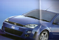 Ford Focus RS 2001 UK Market Launch Double Sided Poster Brochure
