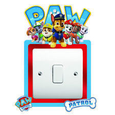PAW PATROL Light Switch Surround Wall Sticker KIDS BOYS GIRLS Cover Decal