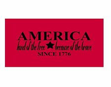America Land Of The Free Brave Decal Sticker Custom Car Truck Off Road  A5059