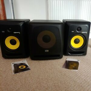 🔊 KRK Rokit 8 Active Studio Speakers and 10s Active Subwoofer 🔊 Barely Used