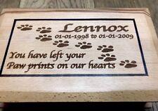 Personalised Beach Wood Pet Memorial Ashes Casket / memory box Small