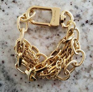 ST JOHN Gold Tone Multi (5) Chain Link Bracelet | Perfect Condition