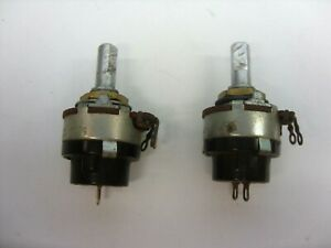 QTY  OF  2  LINEAR   500K   SWITCHED (PUSH ON / OFF)  (SPST)  POTENTIOMETERS