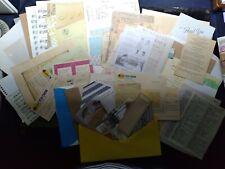 Ephemera Paper Pack - Destash Mixed Lot - Over 75+ pieces w/Storage Pouch