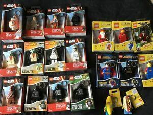 LEGO ~ LED Lite Torch keyring ~ Star Wars , Space , Super Heroes , Nexo