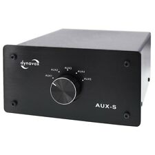 Dynavox AUX-S HiFi Eingangsumschalter schwarz, Eingangs-Erweiterung 5 x Cinch
