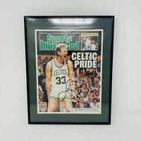 Larry Bird Autographed Signed w/COA 1987 Celtics Sports Illustrated Cover FRAMED