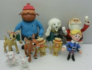 Rudolph Co The Red-Nosed Reindeer Figures And Island Of Misfit Toys Lot of 10
