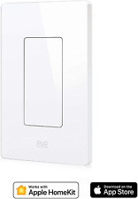 Eve Light Switch - Connected Wall Switch, Easily Upgrade To Intelligent, Automat