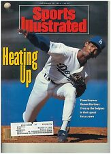 Sepet 30 1991  issue of Sports Illustrated Dodgers Ramon Martinez  Cover