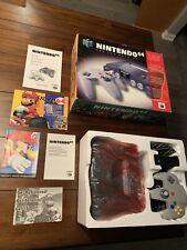 Nintendo 64 System Console Complete Box N64 Manual Inserts Controller CIB AV 2