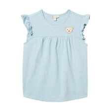 STEIFF® Mädchen T-Shirt Flügelarm Bär Blau 80-122 F/S 2019 NEU!
