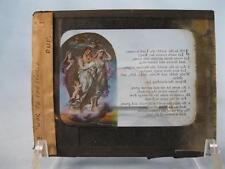 Magic Lantern Glass Slide Joy To The World Multicolored Angels Hymn (O) AS IS