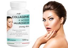 COLLAGENE + ACIDO IALURONICO Line@ 60 cpr ANTIRUGHE e anti-età PELLE TONICA