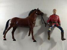 Vintage 1957 Hartland Canadian Mountie Sgt Lance O'Rourke Western figure & horse