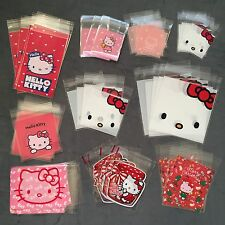 Lot 50 Self Seal Hello Kitty Cello Storage Bags Clear Plastic Gift Cellophane