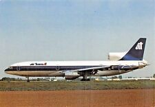 AIR TRANSAT LOCKEDHEAD TRISTAR (C-FTNA) PARIS ONLY Airline Airplane Postcard