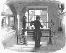 MANUFACTURING. Weighing machine, general Post-office, antique print, 1856