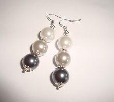 Ohrringe,Ohrhänger Perlen 10 mm AAA Muschelkernperlen 925 Silber,52mm lang,Damen