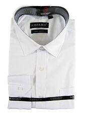 White Long Sleeve Office Work Business Formal Mens Shirt XS S M L XL XXL XXXL