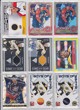 Nathan Horton 16 Card Lot Prime Jersey Certified Platinum Red Cracked Ice Auto
