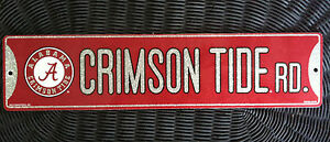 "University of Alabama Crimson & Silver Glitter ""Crimson Tide Rd."" Plastic Sign"