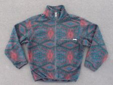 Vintage North Face Print Fleece Jacket Size M S Winter Polar Pattern Coat Ski