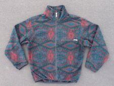 Vintage North Face Print Fleece Jacket Size M S Winter Polar Pattern Coat Ski