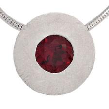 Unbehandelte Echtschmuck-Halsketten & -Anhänger mit runder Granate