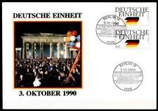 3. Oktober 1990 - Tag der Deutschen Einheit. FDC. Berlin. BRD 1990