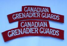 pair of cloth shoulder titles of the Canadian Grenadier Guards
