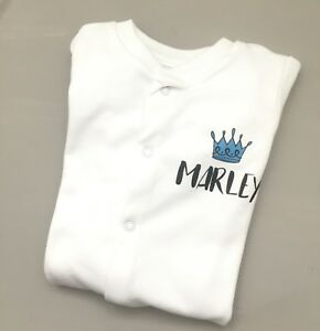 PERSONALISED baby boy clothing CROWN  babygrow great baby shower gift, new baby