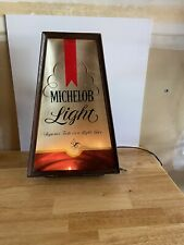 "Vintage Michelob Light Illuminated Sign 10"" x 16"" Superior Taste in a Light Beer"