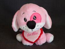 DanDee Valentine's Day Stuffed Animal Pink Puppy Dog w/ Red Heart & Be Mine Logo