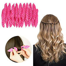 Pillow Satin Soft Foam Hair Rollers Curler Sleep Sponge 30 Pcs Black Or Pink US