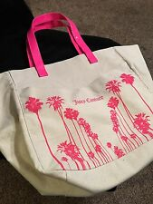 Large Juicy Couture tote bag Canvas and Pink Very Nice