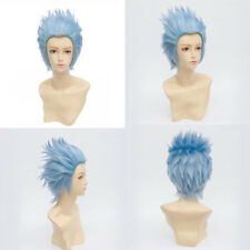 30CM Anime Rick And Morty Halloween Hair Short Blue Heat Resistant Cosplay Wig