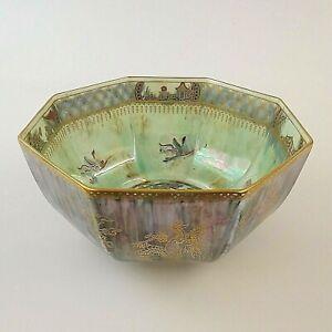 Wedgwood Fairyland Lustre Octagonal Bowl Celestial Dragons Daisy Makeig-Jones