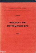 Schweizerische Armee 61 101d Handbuch für Motormechaniker 1956 Motor Schweiz