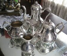 EXQUISITE  ANTIQUE QUALITY   J DIXON SILVER PLATE 4 PIECE COFFEE TEA SET!
