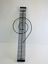 Music Note   Shaped CD / DVD Black Metal Wire Holder Rack