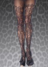 Plus Size Leg Avenue Black Floral Vine Net Tights