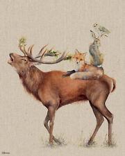 Jane Bannon - Call of the Wild - 40 x 50cm Canvas Print Wall Art WDC94976